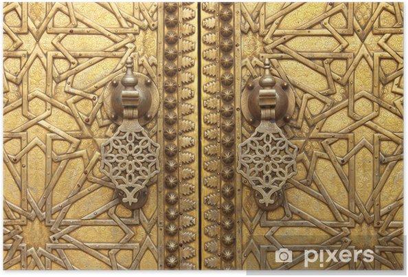 Plakát Zlaté klepadla z královského paláce v Fes, Maroko - Maroko