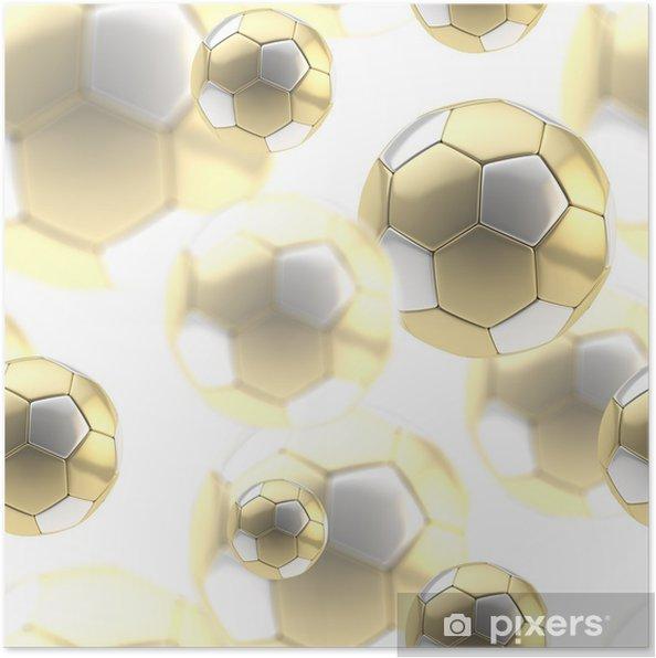 Plakát Zlatý fotbalový míč bezešvé pozadí - Pozadí