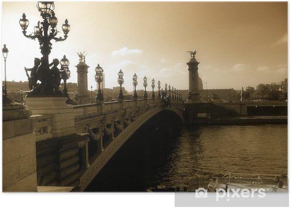 Plakát Zlatý most - Evropská města