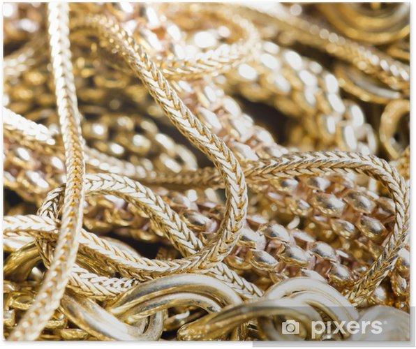 Plakat Złota biżuteria - Moda