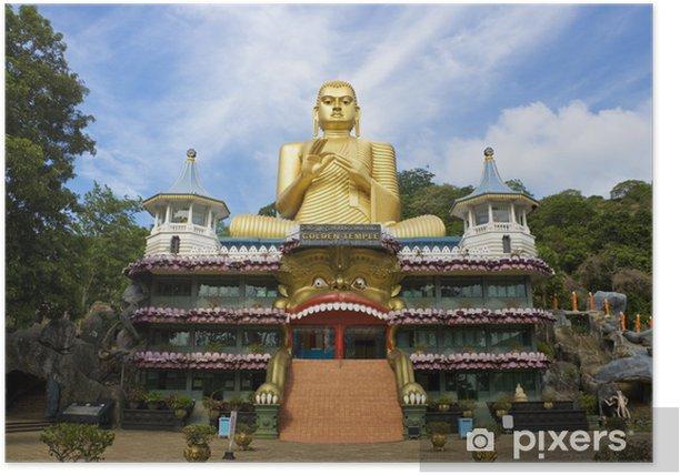 Plakat Złota Świątynia, Dambulla, Sri Lanka - Azja