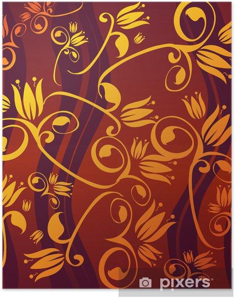 Plakat Złote kwiaty - Znaki i symbole