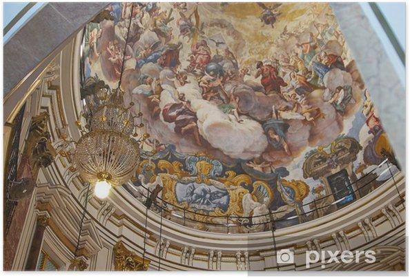 Plakat Złote przedmioty religijne katedra Walencja, Hiszpania - Sztuka i twórczość