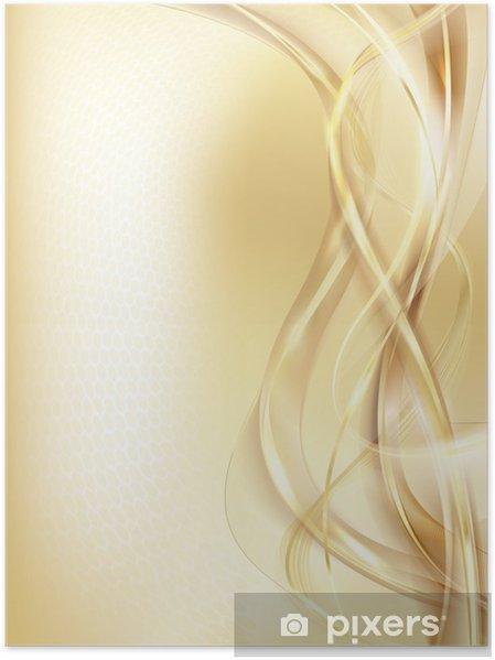 Plakat Złote tło - Znaki i symbole