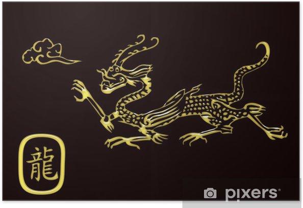 Plakat Złoty smok - Znaki i symbole