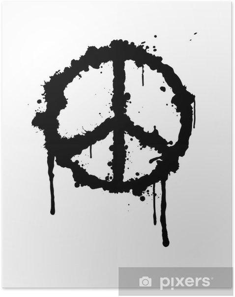 Plakat Znak pokoju - Pokój