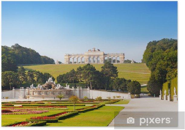 Plakat Zobacz na Glorietta w pałacu Schönbrunn w Wiedniu - Zabytki