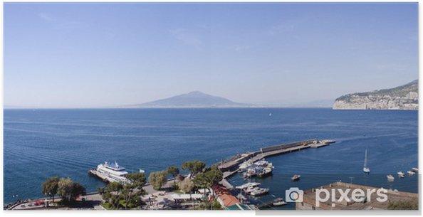 Plakat Zobacz Neapol z portu Sorrento - Woda