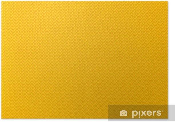 Plakat Żółty kolor tła graficzny siatki - Cuda natury