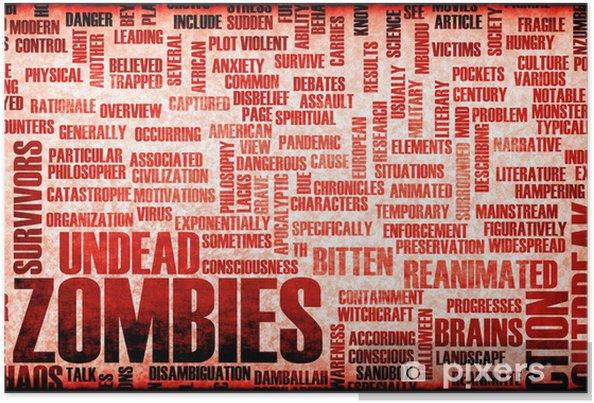 Plakat Zombie - Tematy