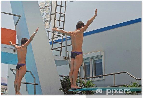 Plakat Zsynchronizowane nurkowanie drużyny - Sukces i osiągnięcia