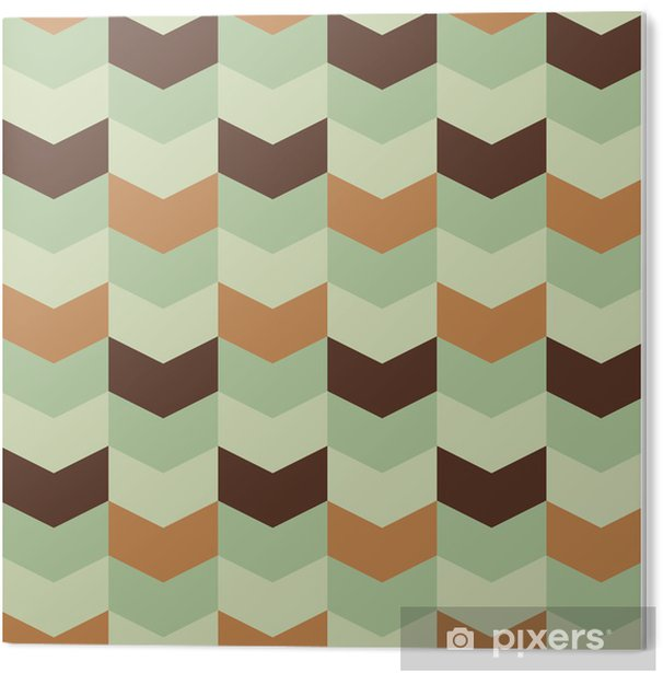 Plexiglas Print Abstract retro geometrisch patroon - Abstract