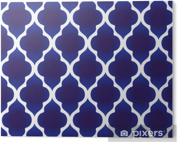 Plexiglas Print Blauw en wit islamitisch patroon - Grafische Bronnen