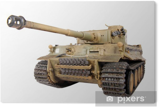 Plexiglas Print Model van de tank Tiger geïsoleerd - Thema's