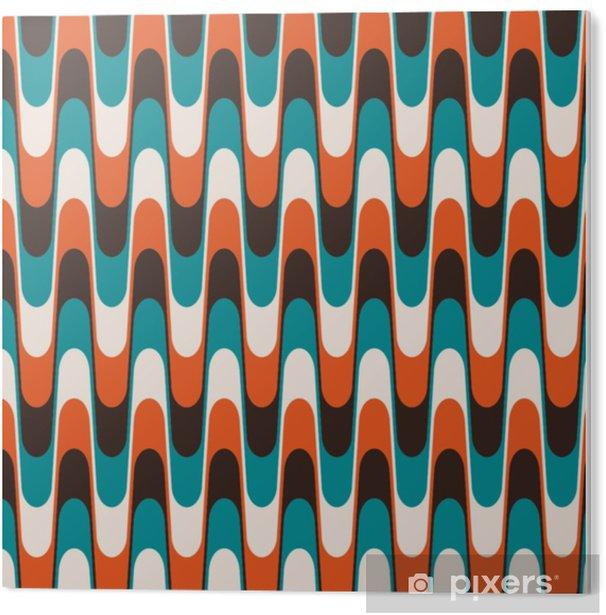 Plexiglas Print Naadloze vintage golvende patroon in halverwege de eeuw stijl. - Grafische Bronnen