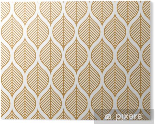 Plexiglas Print Vector geometrische blad naadloze patroon. abstracte bladeren textuur. - Grafische Bronnen