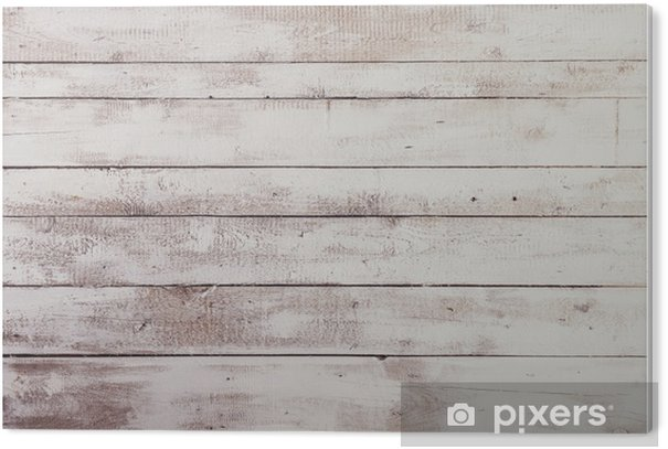 Plexiglas Print Witte houten planken met textuur als achtergrond - Thema's