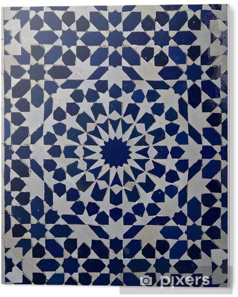 Plexiglas Print Zellige Marokkaanse Patroon van de Tegel - Marokko