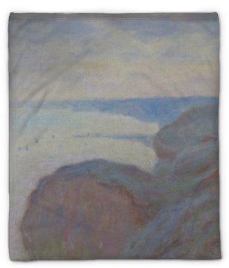 Pluche deken Claude Monet - Kliffen in de buurt van Dieppe