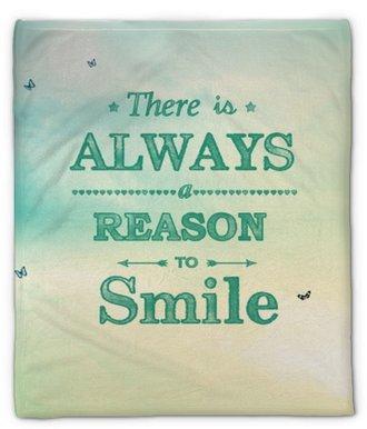 Pluche deken Er is altijd een reden om te glimlachen!
