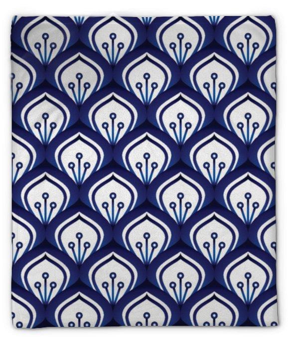 Pluche deken Porselein patroon naadloos - Grafische Bronnen