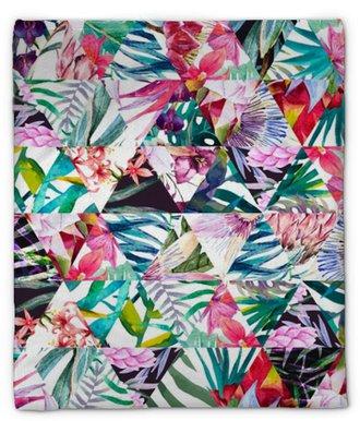 Pluche deken Tropische aquarel patroon