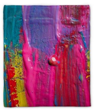 Plüschdecke Abstrakter Kunst Hintergrund. handgemalten Hintergrund