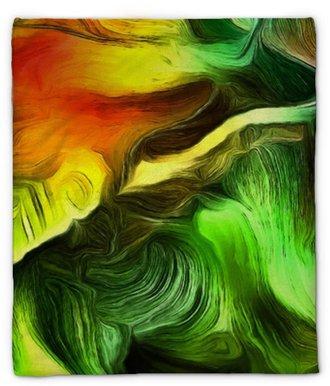 Plüschdecke Flüssige Linien der Farbbewegung