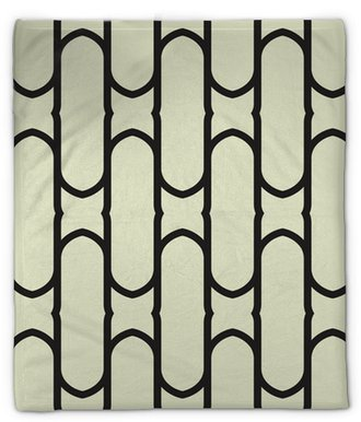 Abstract geometric seamless pattern background Plush Blanket