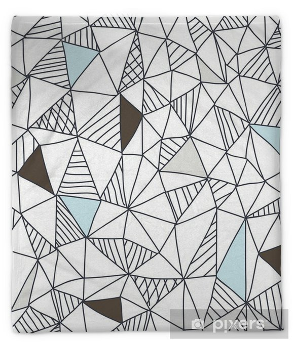 Abstract seamless doodle pattern Plush Blanket - Business