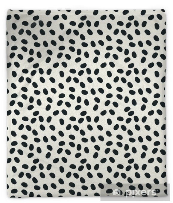 black and white dots vector seamless repeapt background Plush Blanket - Graphic Resources