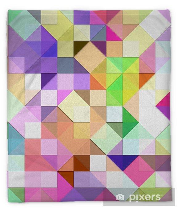 bright pastel mosaic Plush Blanket - Styles