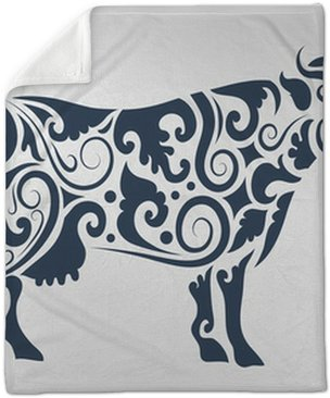 Cow Tattoo Vector Wall Mural Pixers We Live To Change