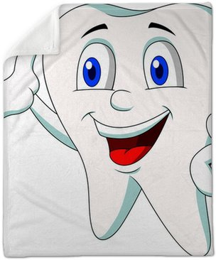 Cute Tooth Cartoon Presenting Plush Blanket Pixers We Live To Change