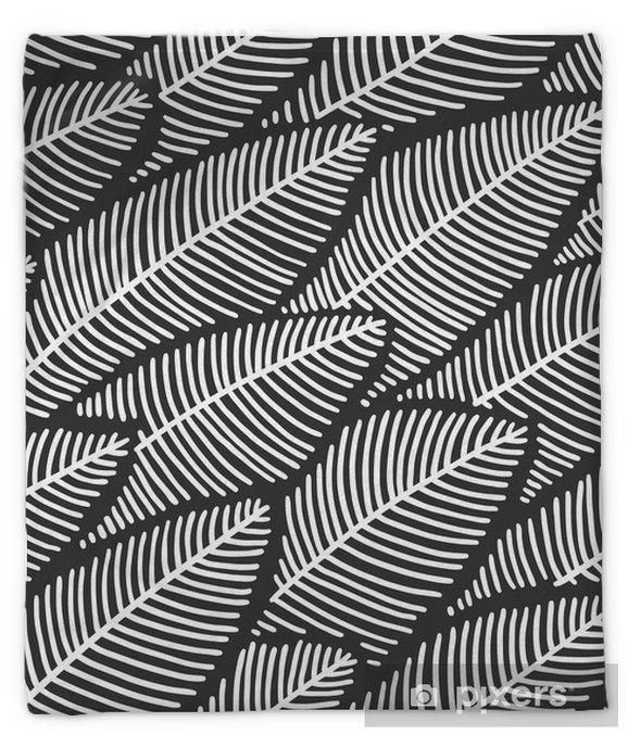Elegant seamless pattern leaves Plush Blanket - Plants and Flowers