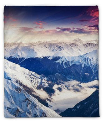mountain landscape Plush Blanket