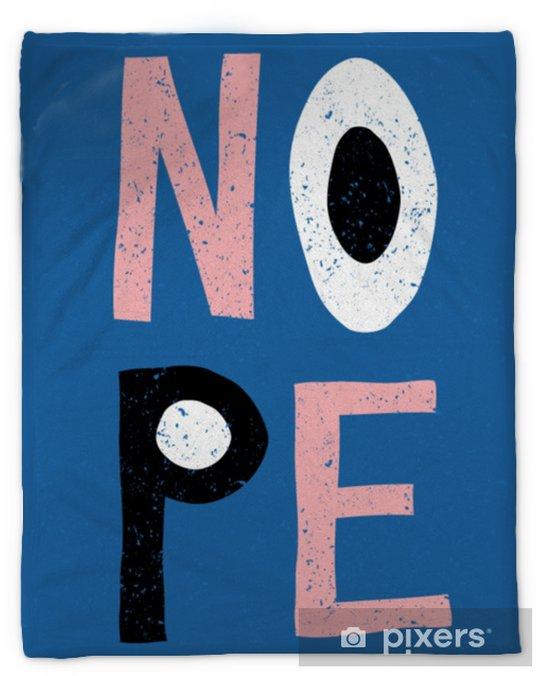 Nope Retro Typographic Design Plush Blanket - Graphic Resources