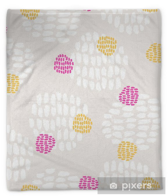 seamless hand drawn pattern Plush Blanket - Graphic Resources