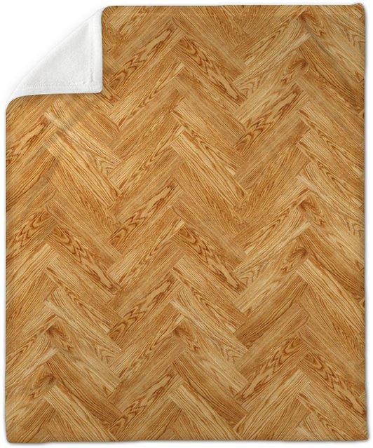 Seamless Oak Parquet Texture Plush Blanket