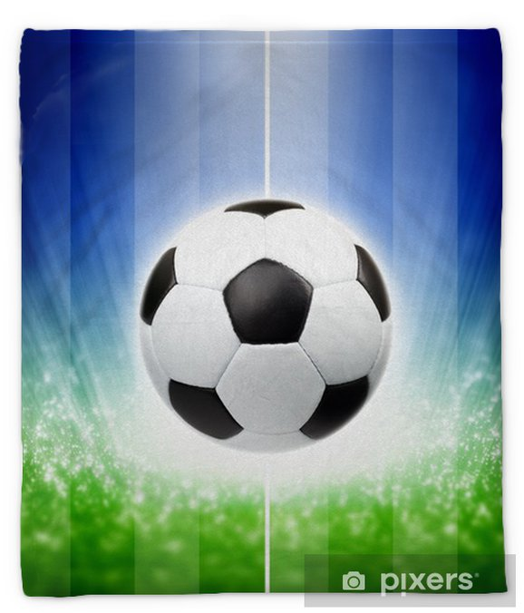 Soccer background Plush Blanket - Team Sports