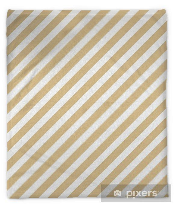 Stripe beige seamless pattern Plush Blanket - Graphic Resources