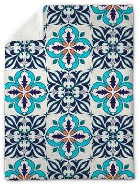 Vector seamless texture. Beautiful colored pattern for design and fashion with decorative elements Plush Blanket