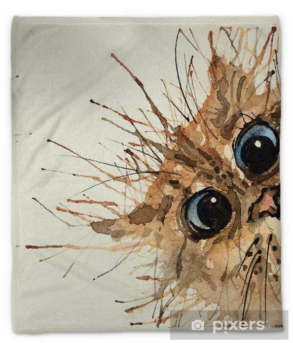Watercolour cats. Plush Blanket - Animals