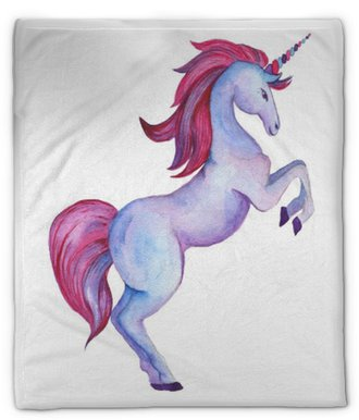 Plyshfilt Enhörning av unicorn. akvarell föremål