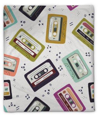 Plyshfilt Handgjord kassettband sömlöst mönster