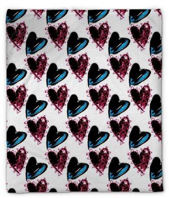 Plyshfilt Sömlös rock and roll, punkhjärtan, valentin tapeter mönster. ängs tonåring kärlek tapet mönster bakgrund.