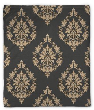 Plyshfilt Vektor damast sömlösa mönster bakgrund. klassisk lyx gammaldags damask prydnad, royal victorian sömlös textur för tapeter, textil, inslagning. utsökt blommig barockmall