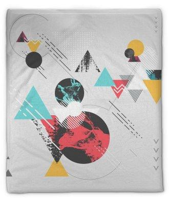 Plyšová deka Abstraktní moderní geometrické pozadí