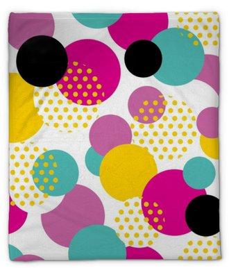 Plyšová deka Bezproblémový geometrický vzor ve stylu retro 80s. pop art kruh vzor na bílém pozadí.