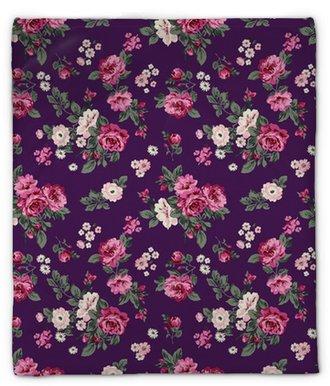 Plyšová deka Nádherné růže bezproblémové pozadí